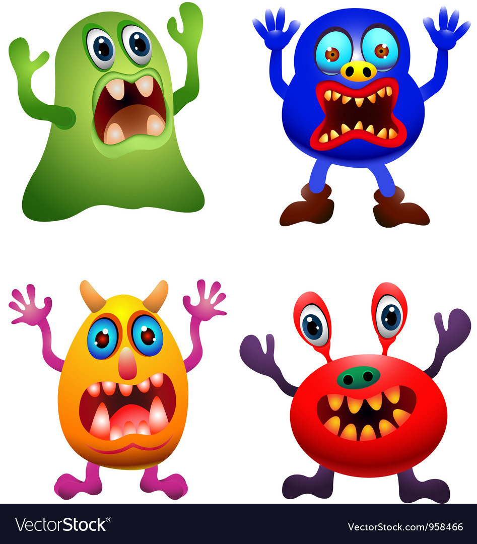 funny monster collection royalty free vector image