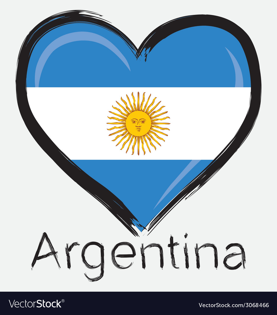 Love Argentina Flag Royalty Free Vector Image Vectorstock