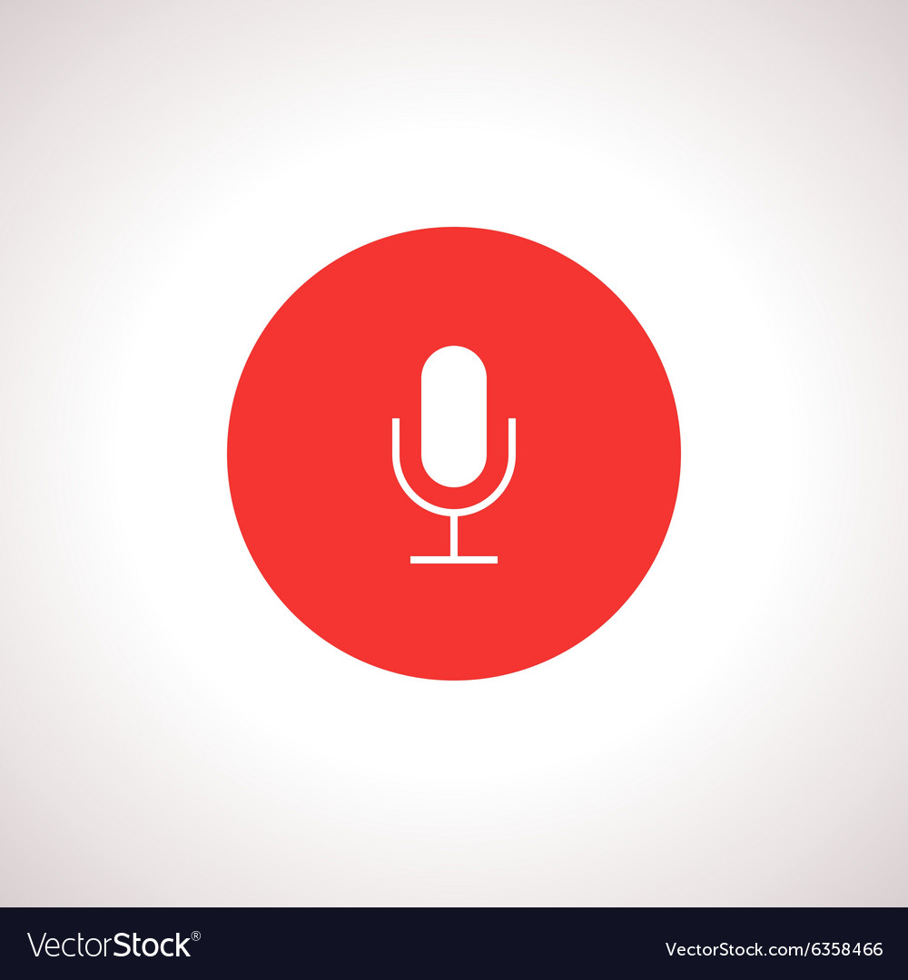Microphone Icon in red circle vector image