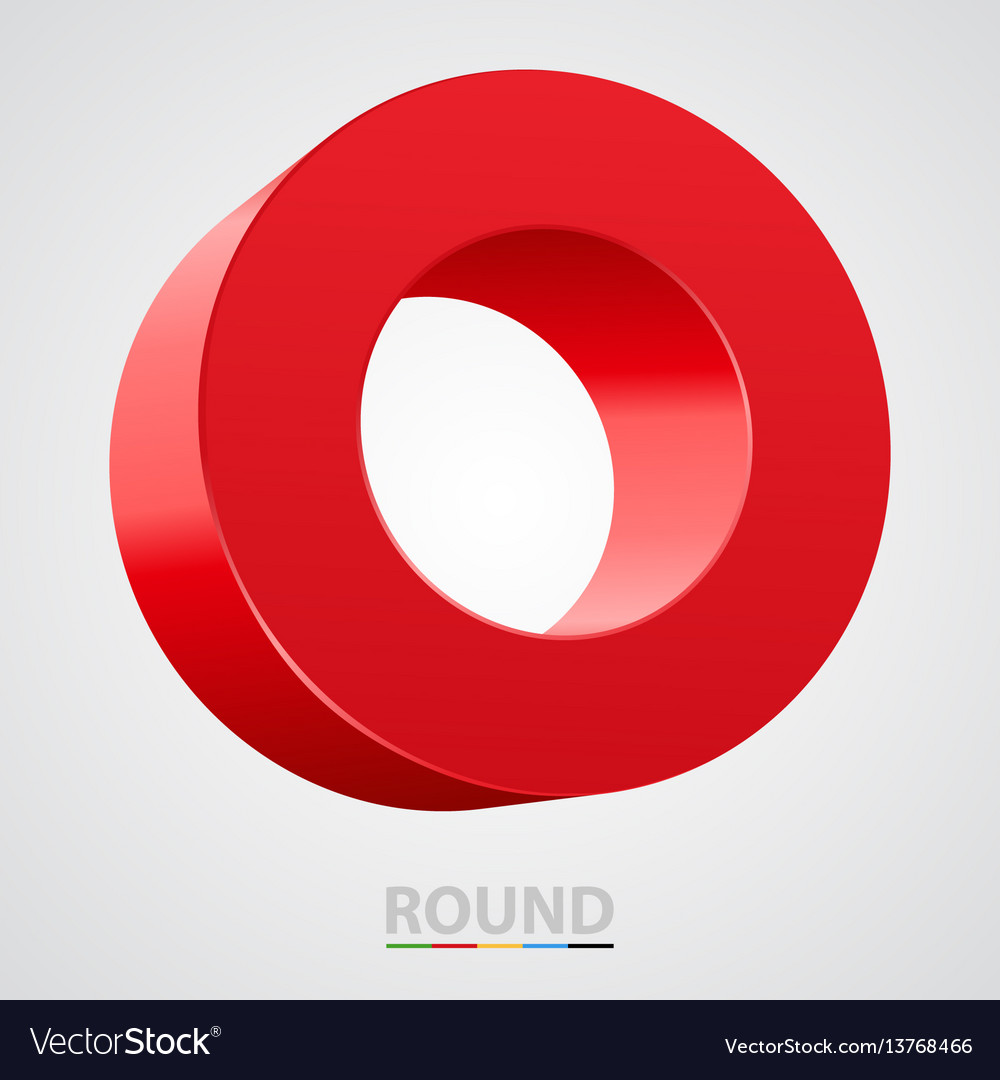 Red glossy circle isolated on white