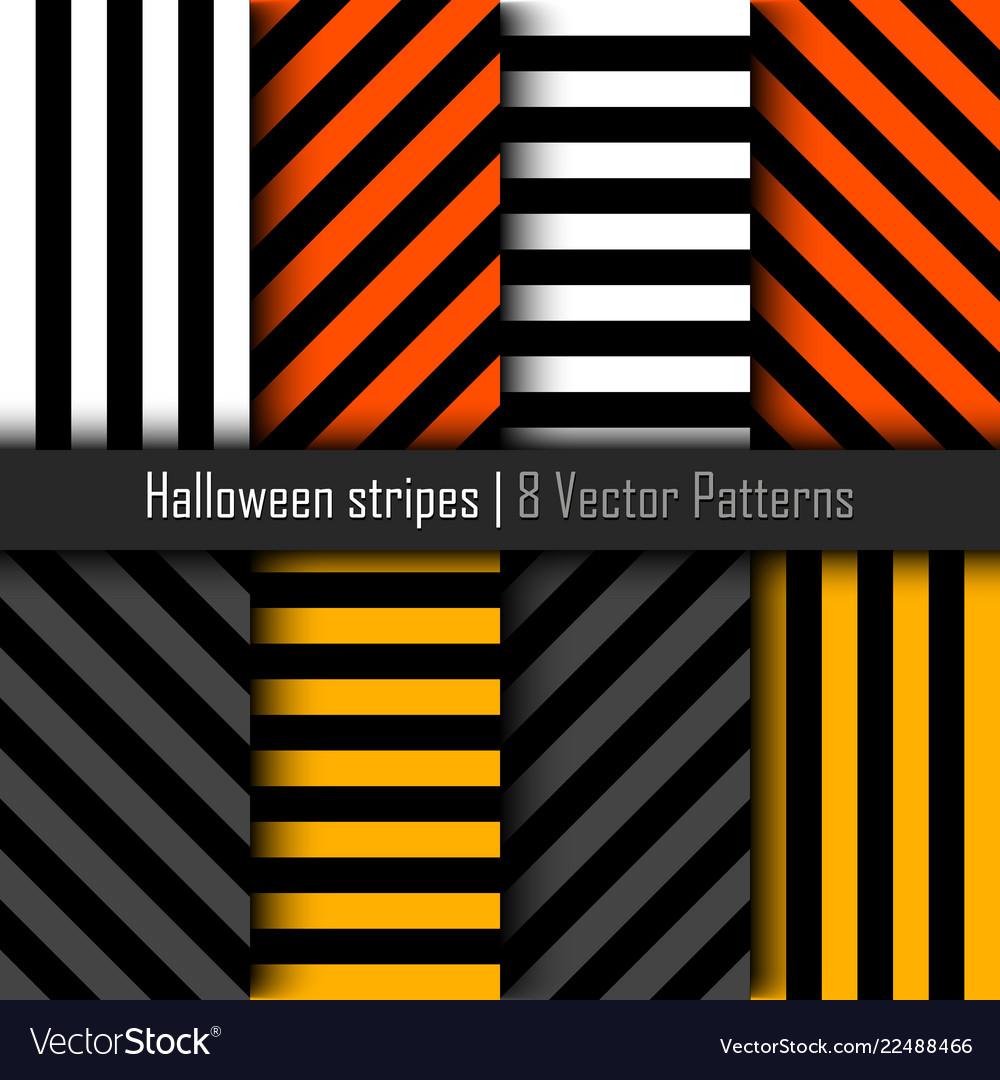 Set of patterns for halloween stripes background