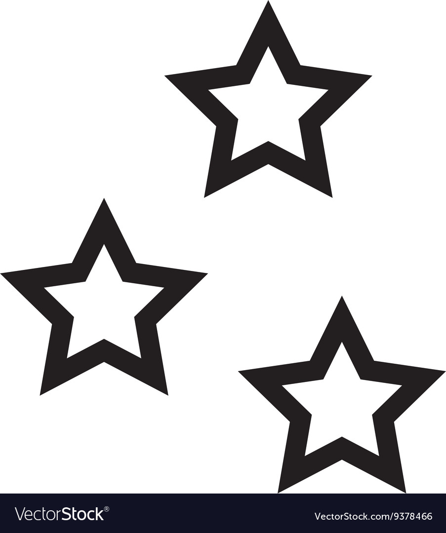 Star shape design isolated figure of five points