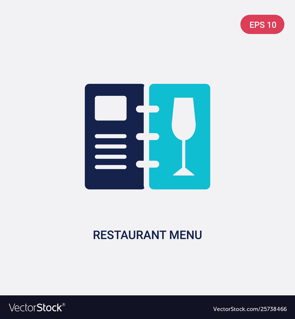 Two Color Restaurant Menu Icon From Food Concept Vector Image