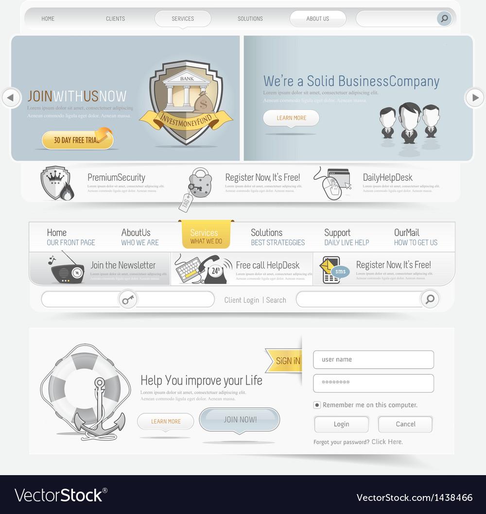 Web site navigation menu pack