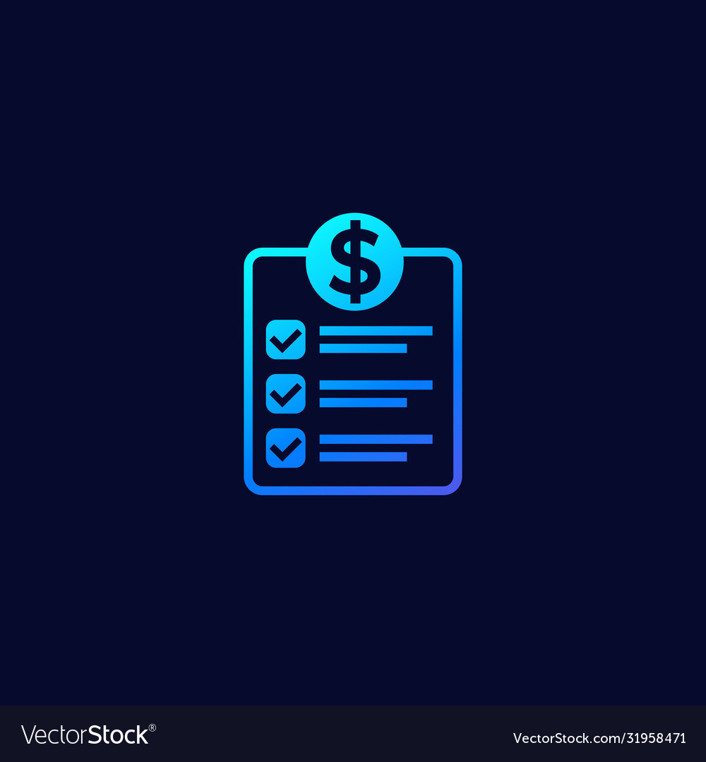 Financial planning icon with gradient