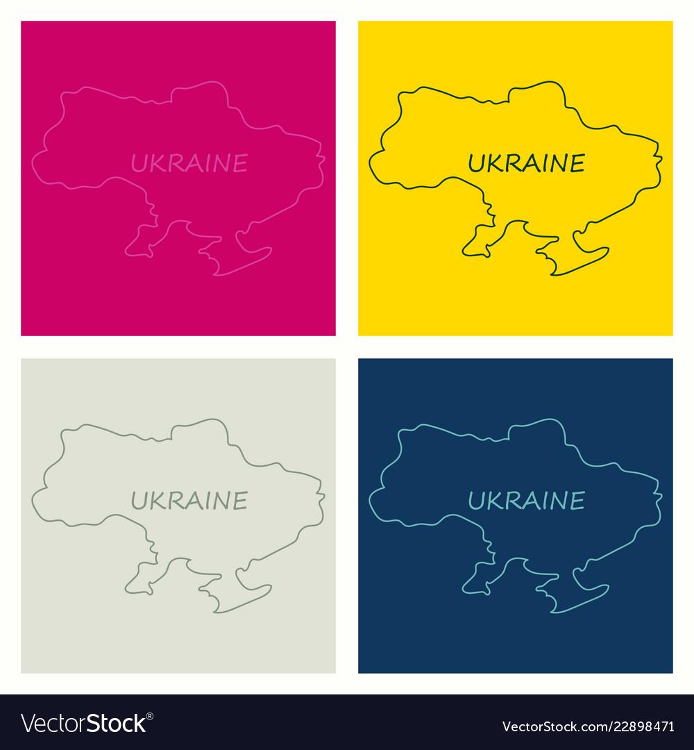 Flag map of ukraine
