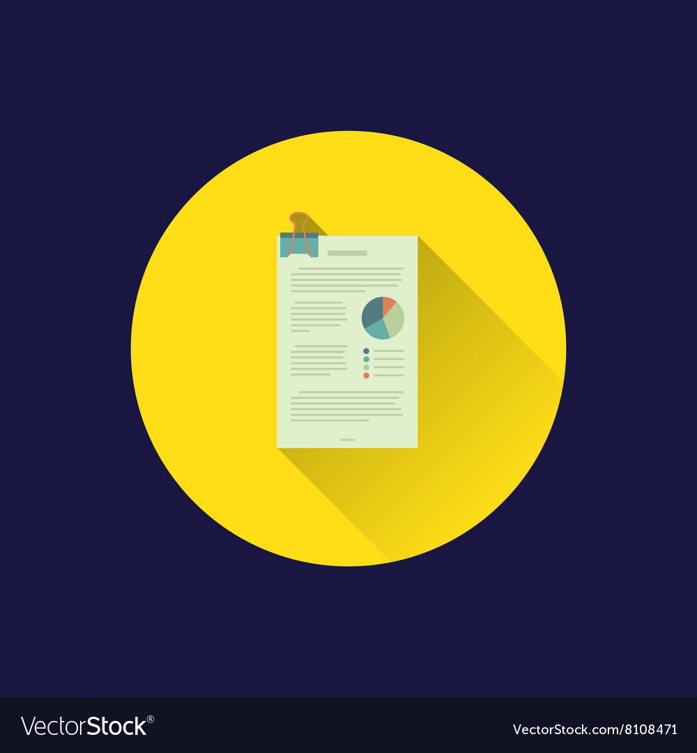 Flat office paper icon