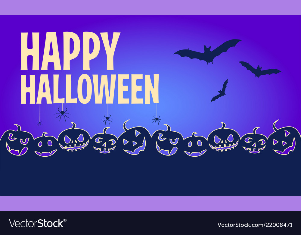 Happy halloween banners flat designed background