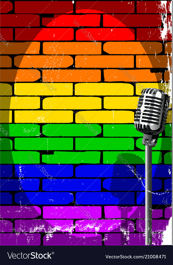 Rainbow musical event poster grunge vector image