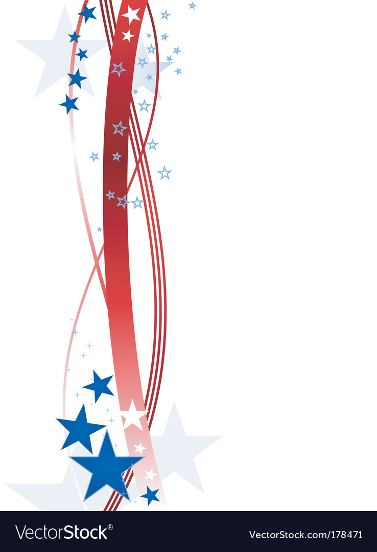 Stars and stripes vector image