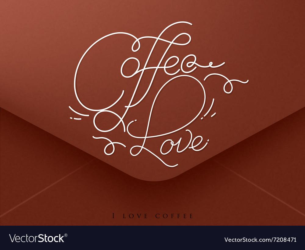 Valentines envelope coffee vector image