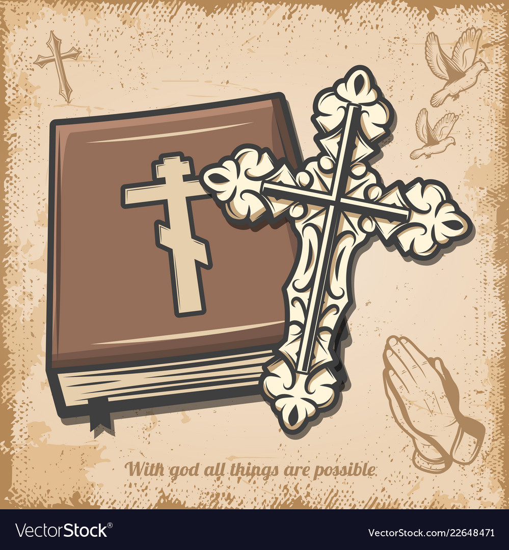 vintage religious template royalty free vector image