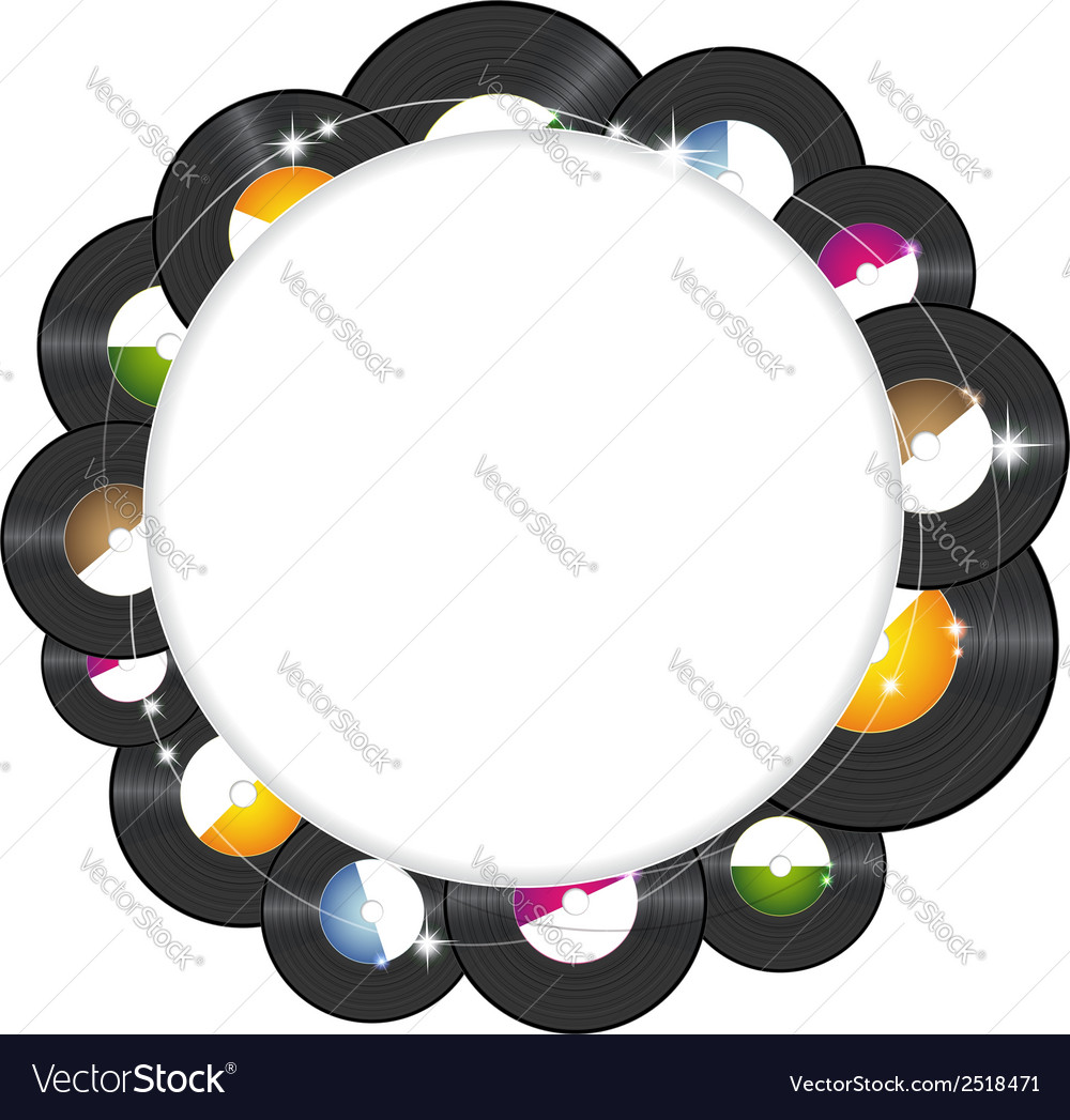 Vinyl music background vector image