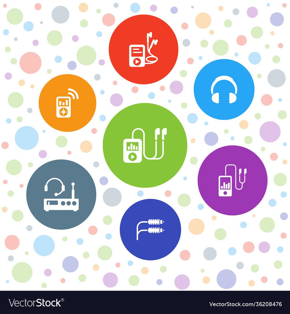 7 headphones icons