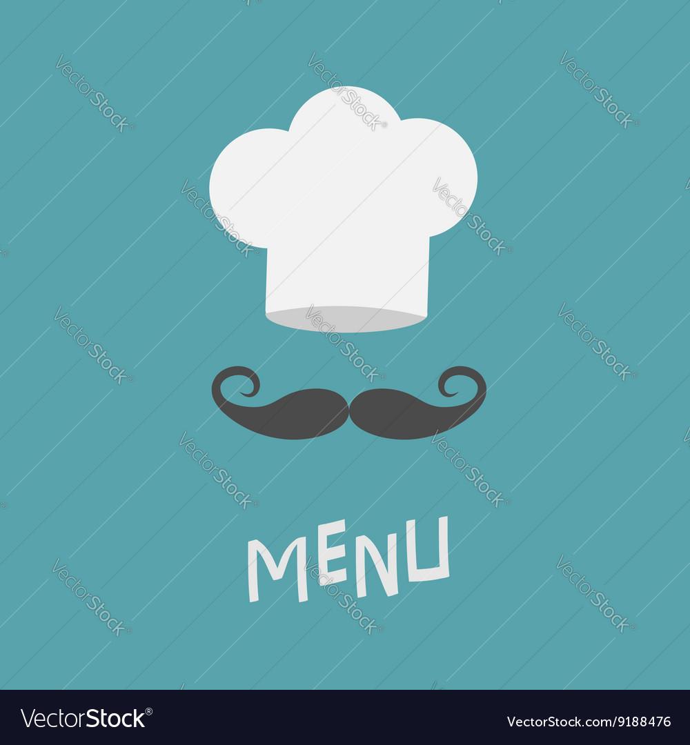 Chef hat and big mustache Menu card Restaurant