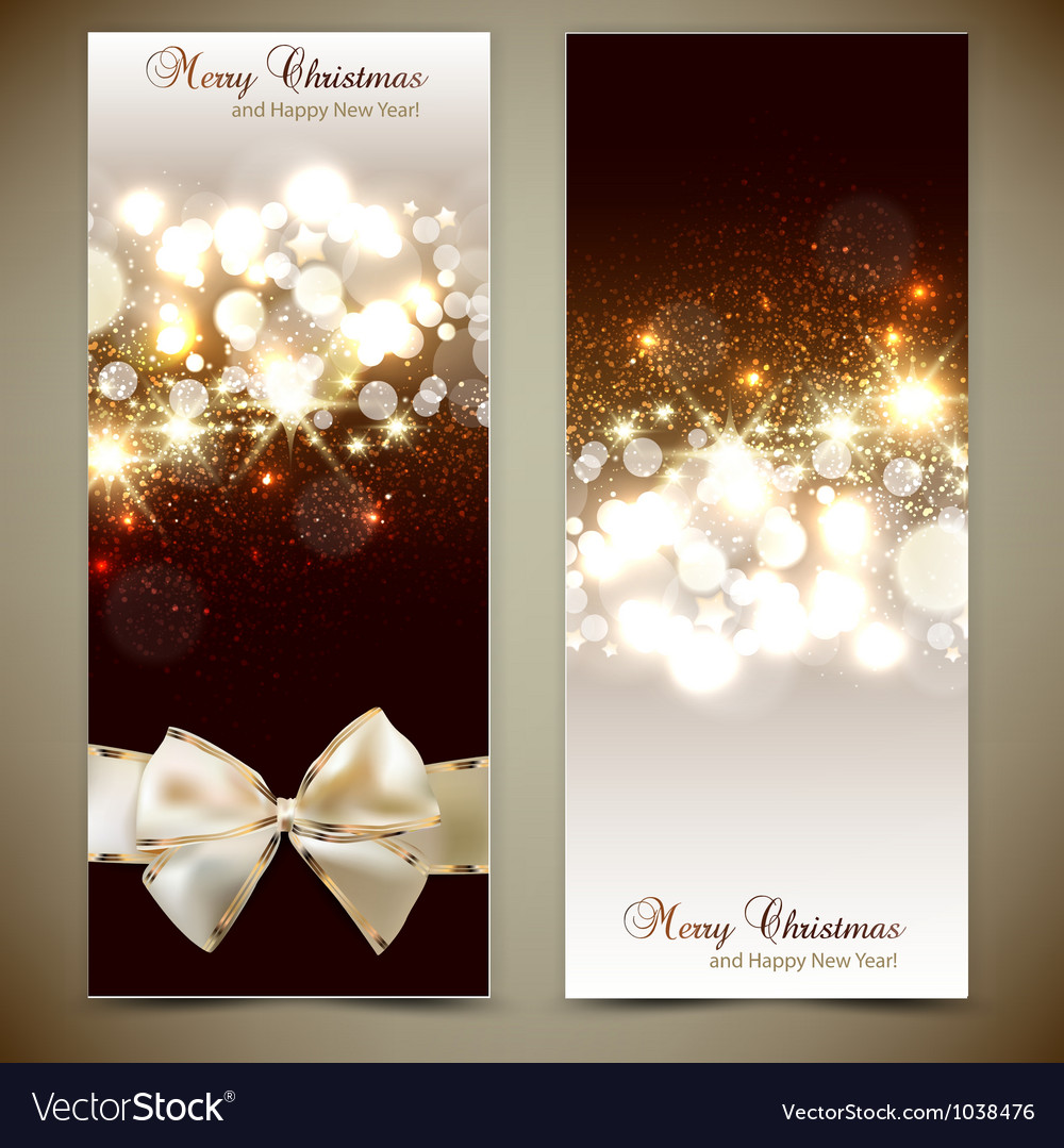 Elegant greeting cards with bows and copy space vector image m4hsunfo