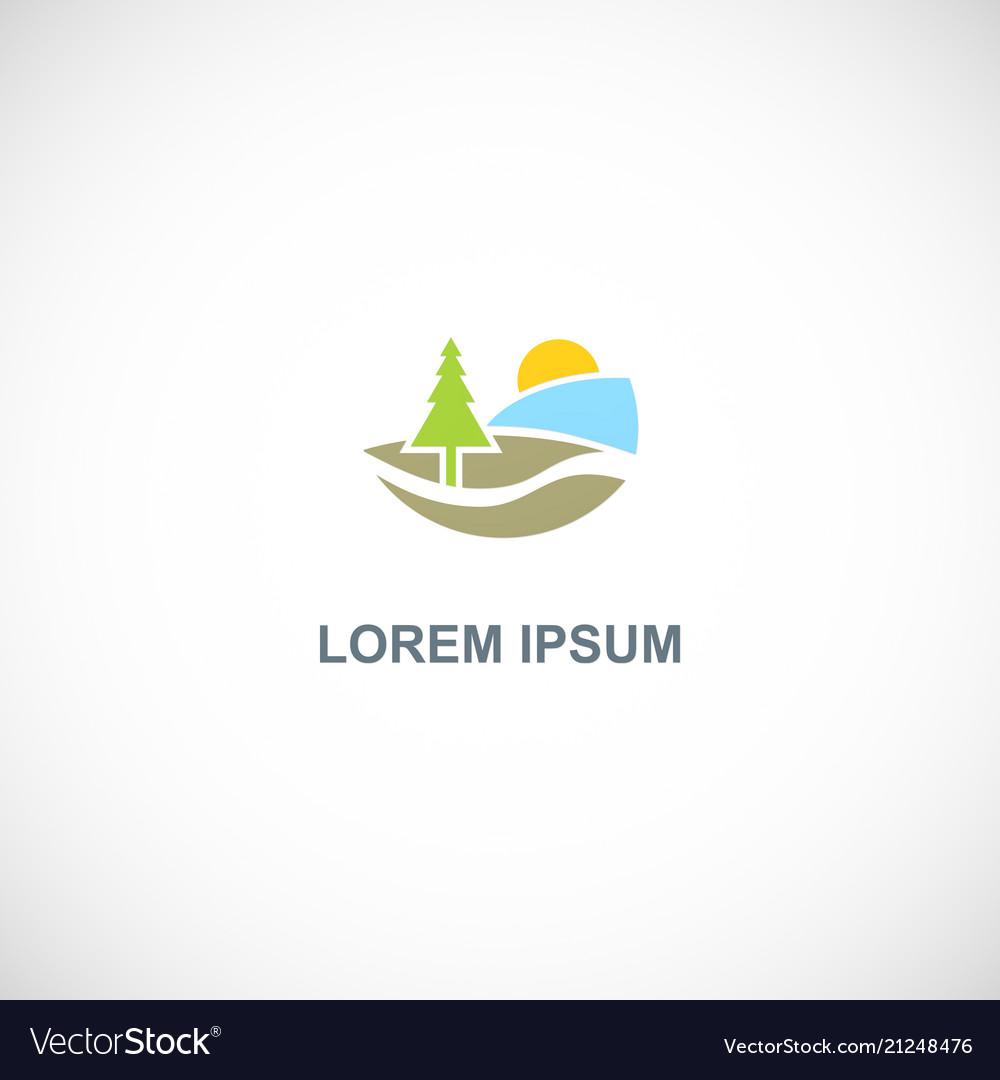 Pine tree nature logo