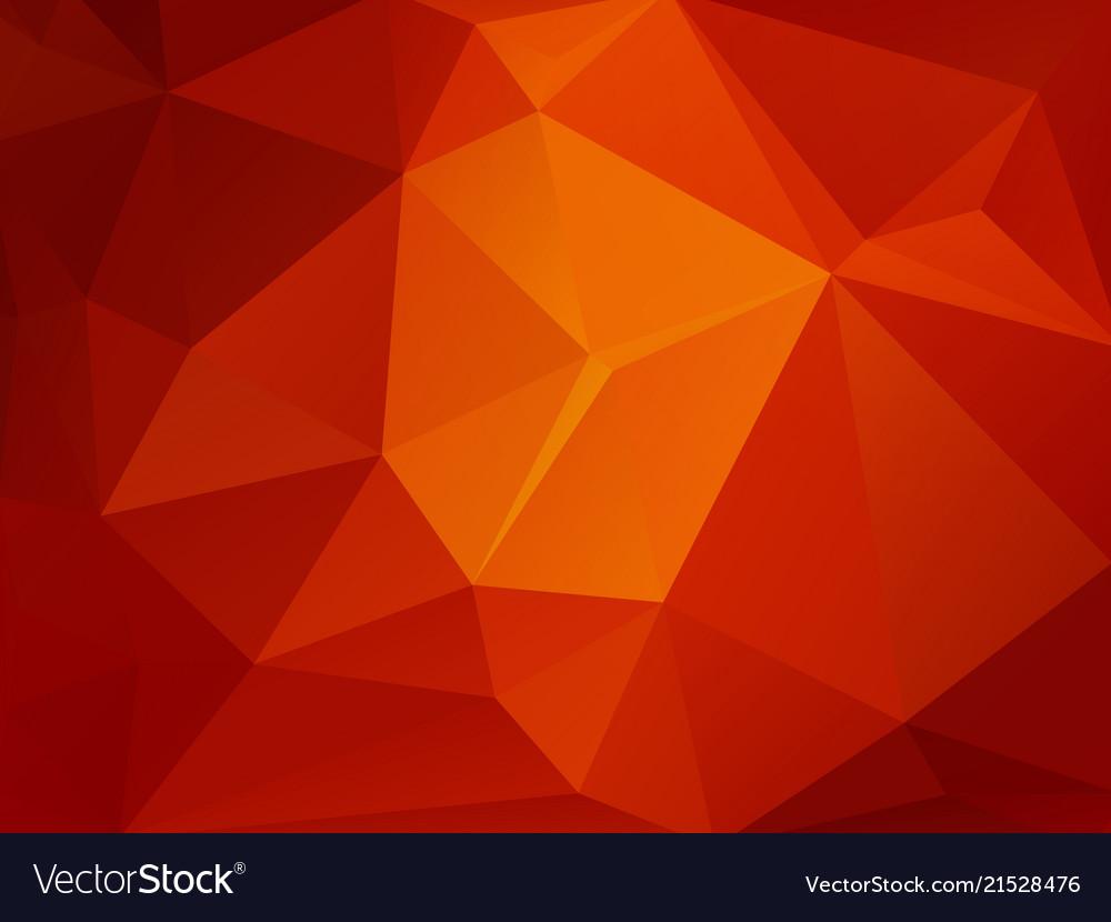 Red orange mosaic triangle background
