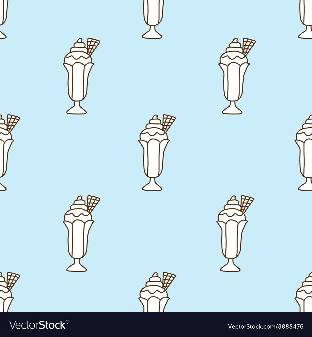 Seamless pattern of ice cream