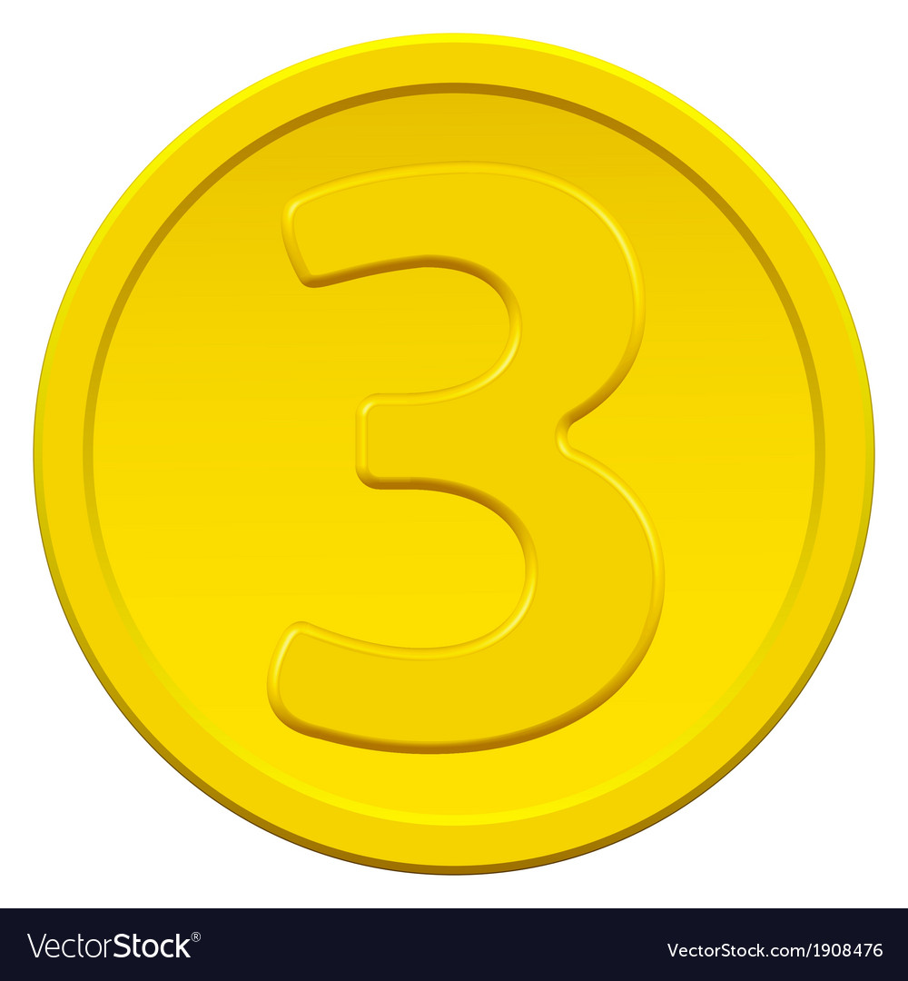 Three coin vector image