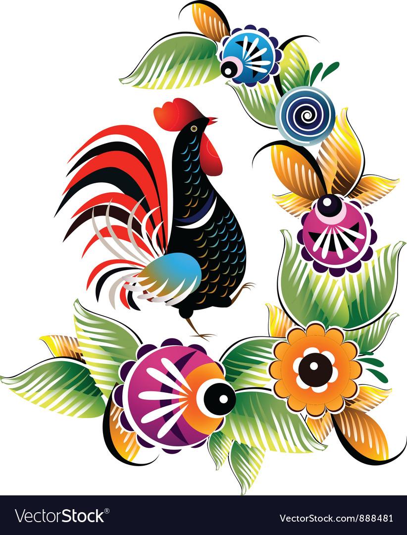 Black cock vector image