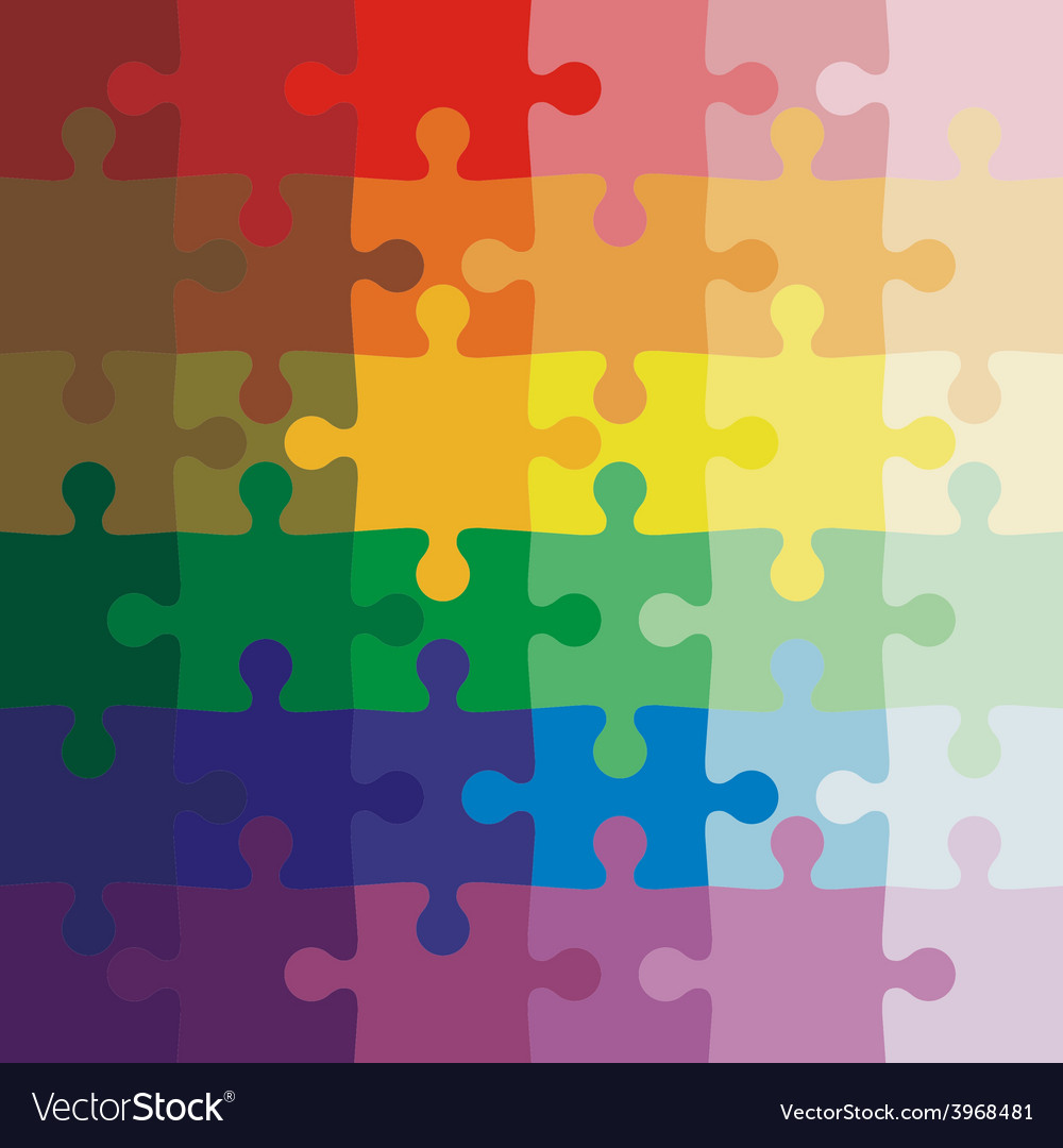 color background jigsaw puzzle royalty free vector image rh vectorstock com puzzle vector free puzzle vector files free