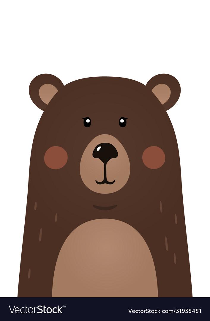 Cute bear woodland forest animal