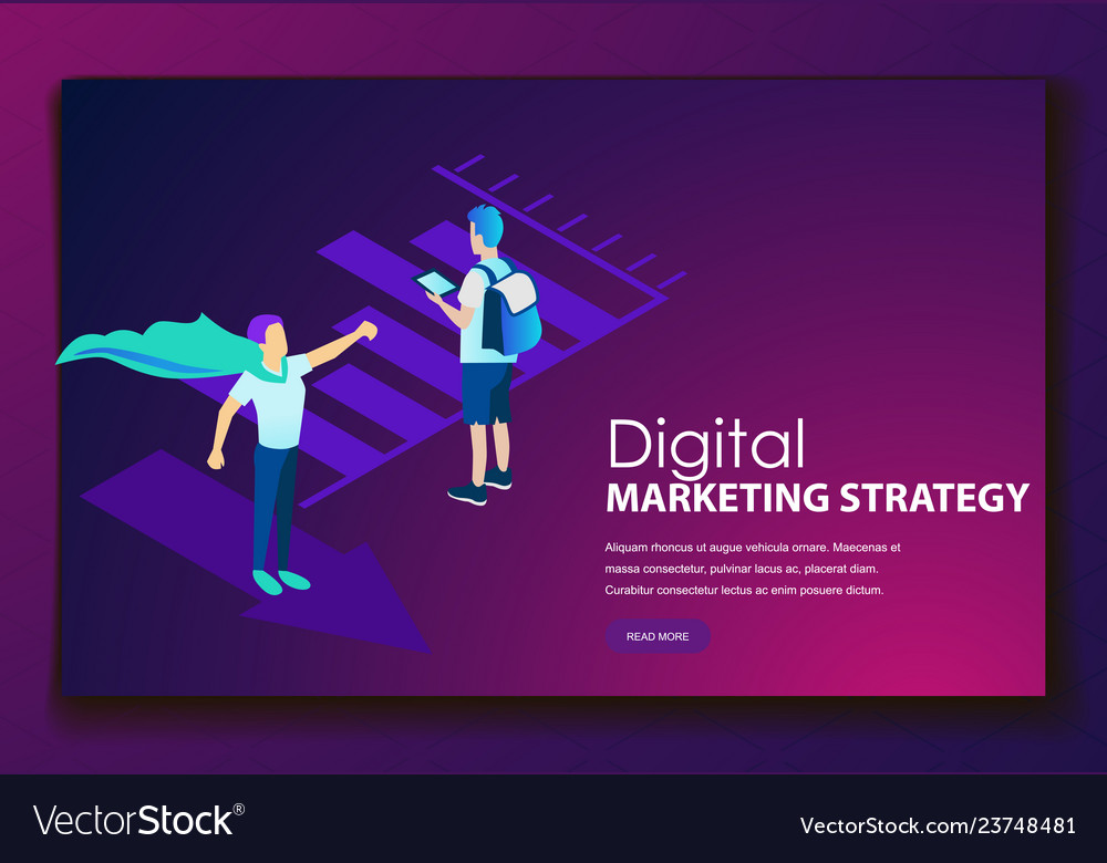 Digital marketing strategy landing web page