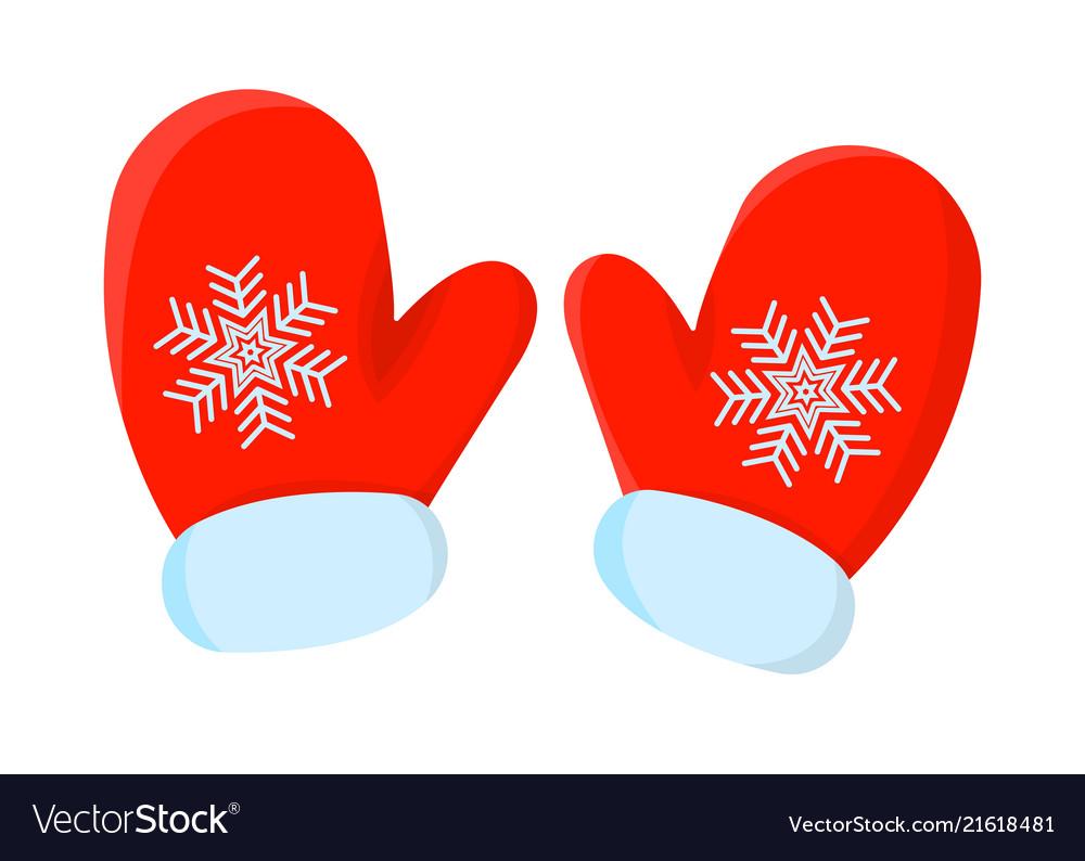 Glove xmas isolated icon cartoon style for