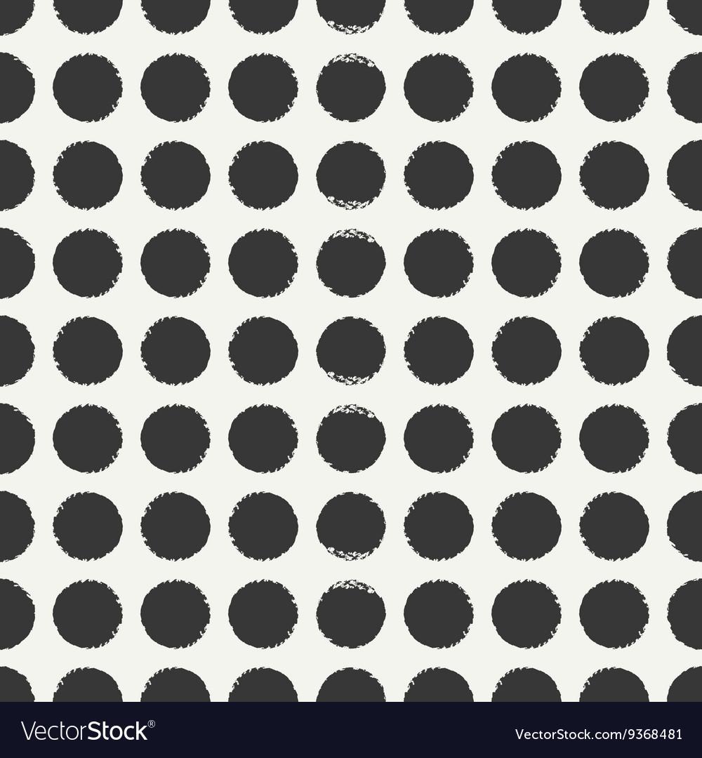 Hand drawn geometric seamless ink polka dot
