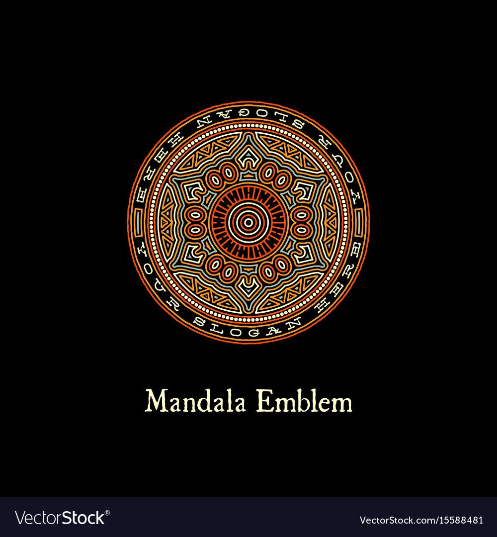 Mandala emblem