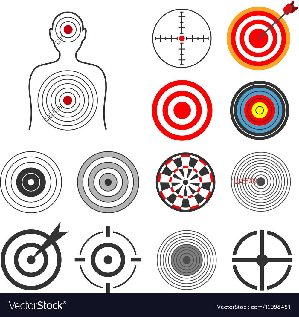 People animals dart silhouette shooting target