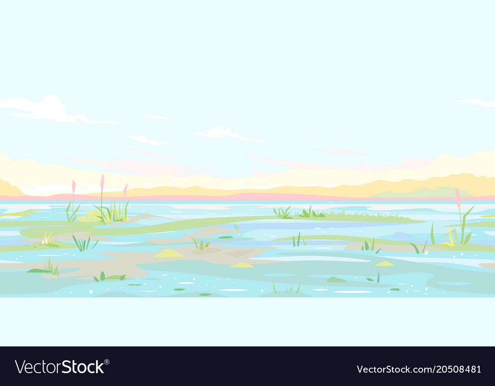 River flood waters background