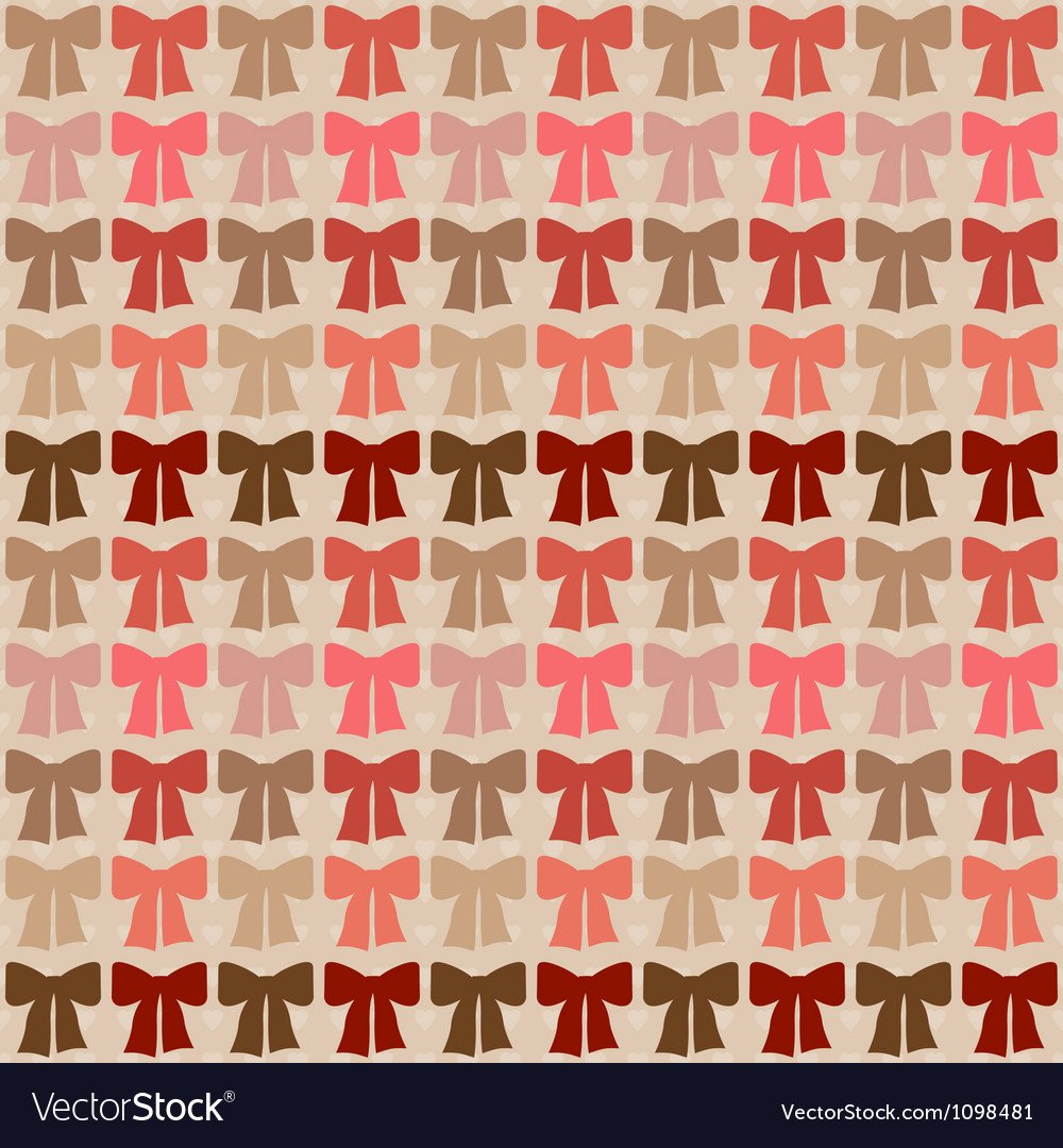 Seamless pattern with bows in retro style