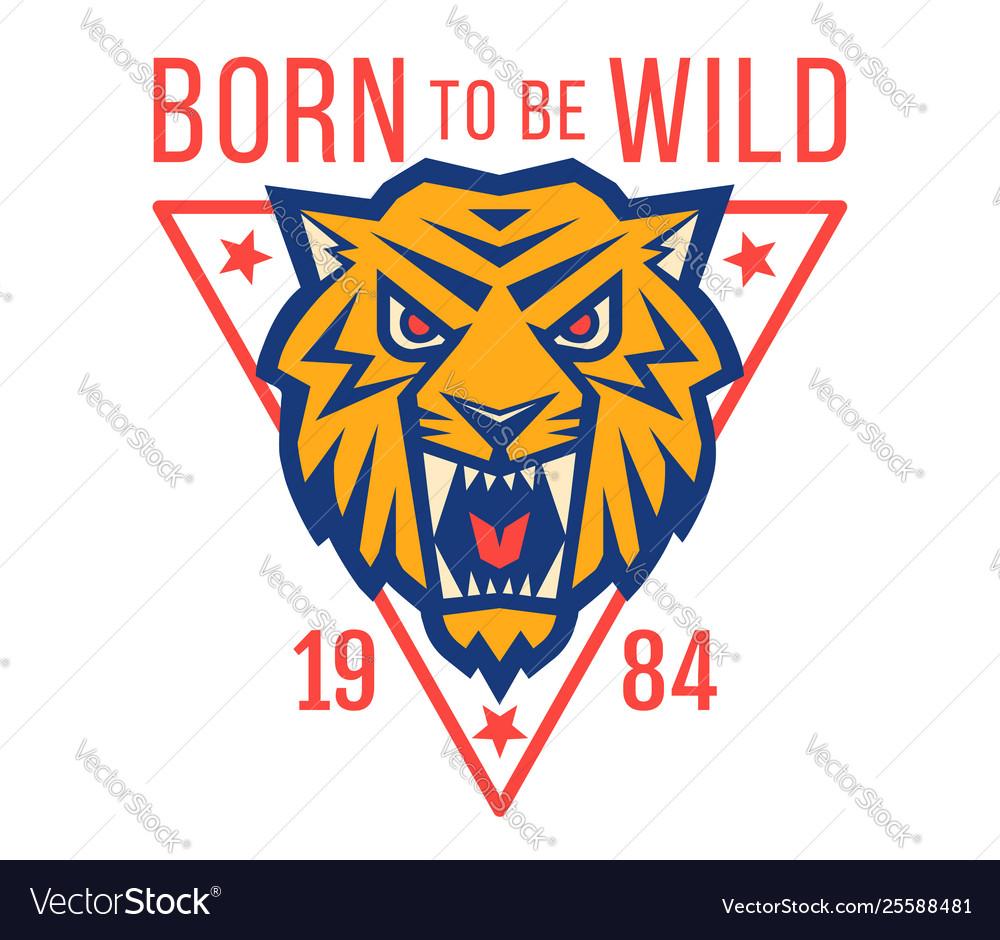 Sport logo with head od a tiger