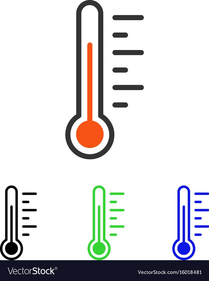 Temperature level flat icon