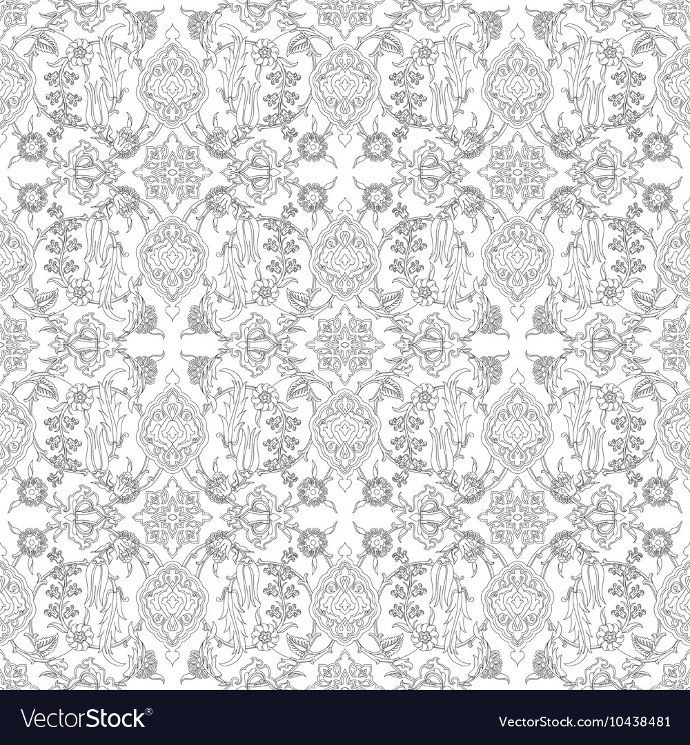 Tile oriental floral seamless ethnic pattern