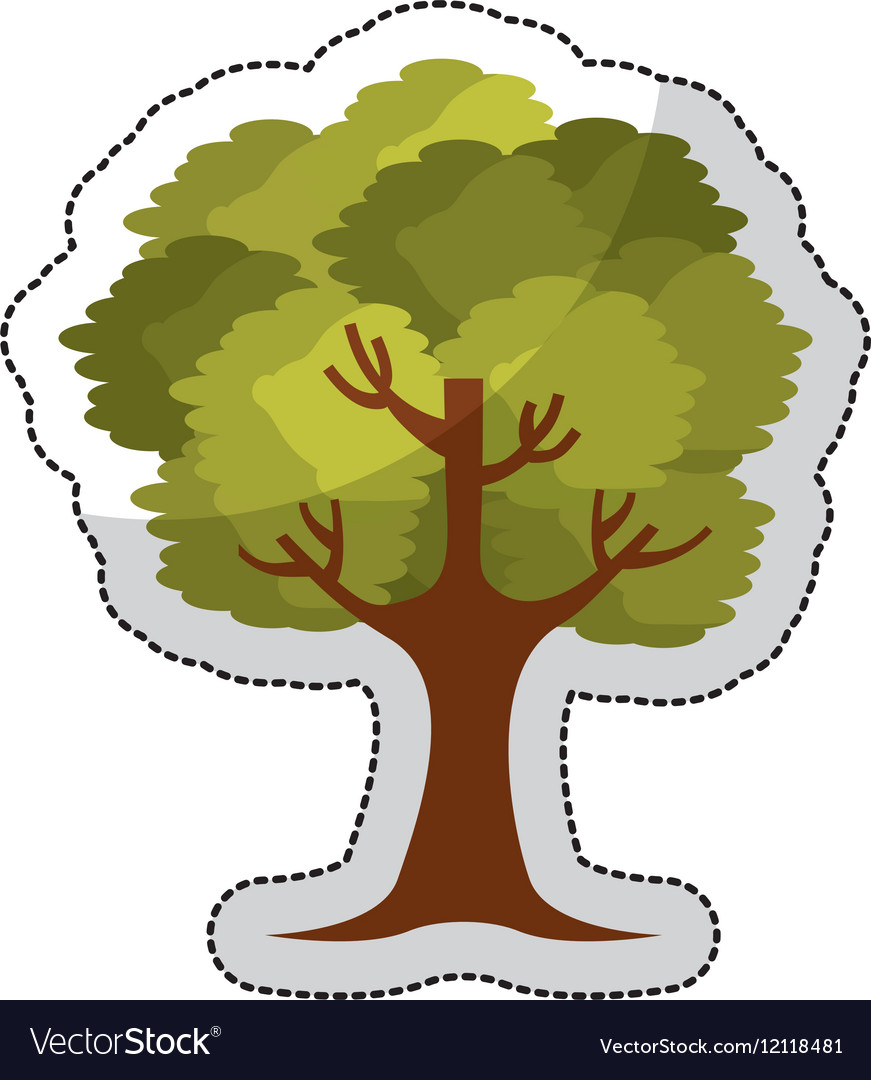 Tree plant isolated icon