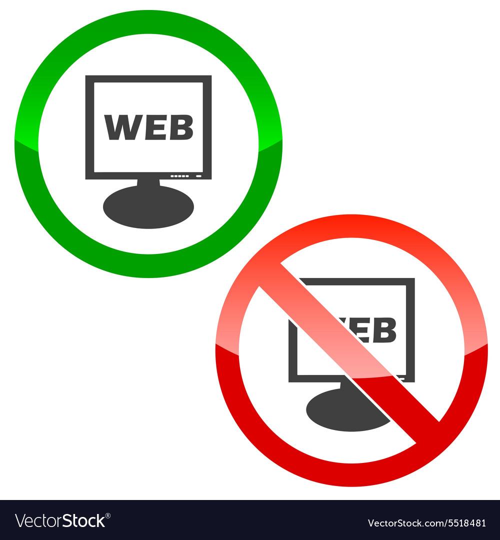 WEB monitor permission signs