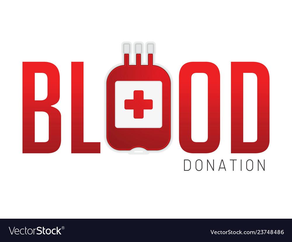 Blood donation cartoon graphic