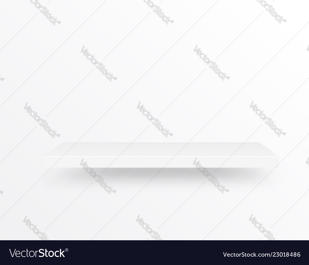 Empty shelf on light gray background can be used