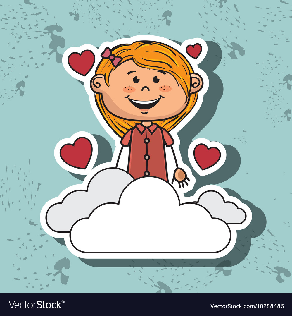 Girl cloud heart love