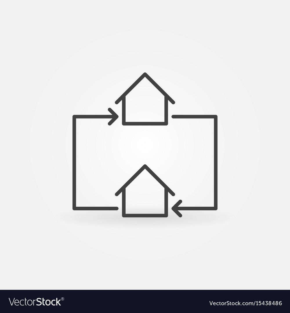 House exchange line icon