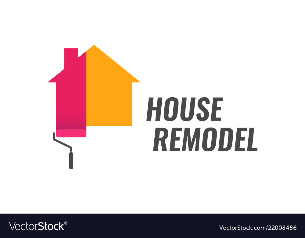 House remodel - logo with dyeing house and
