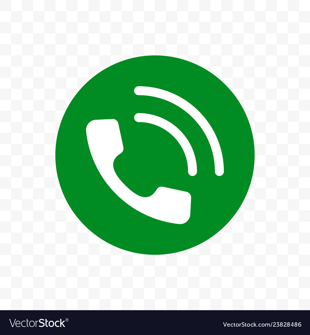 Phone call icon phone receiver in green circle