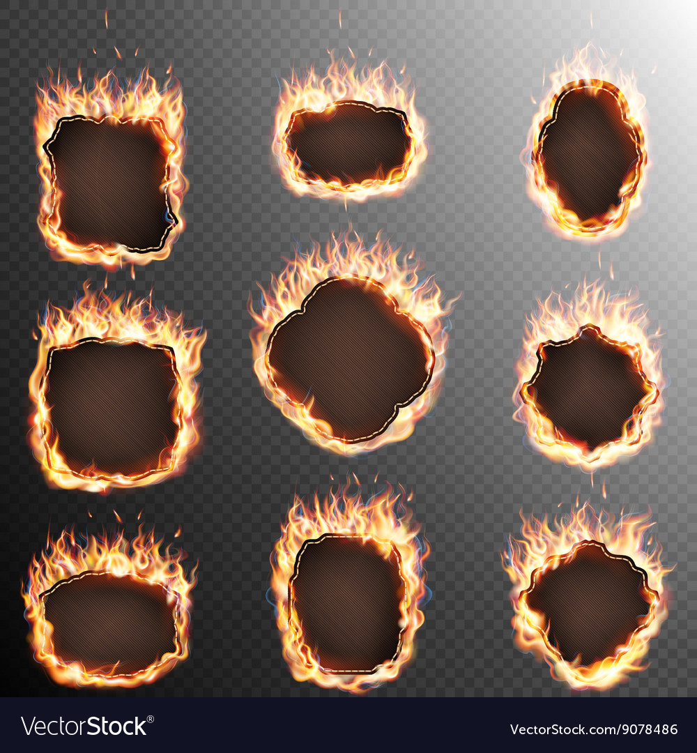 set of 9 fire labels template eps 10 royalty free vector
