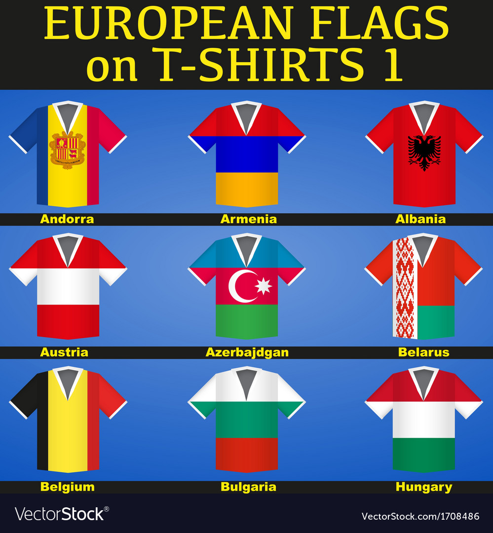 Soccer Jerseys with flags