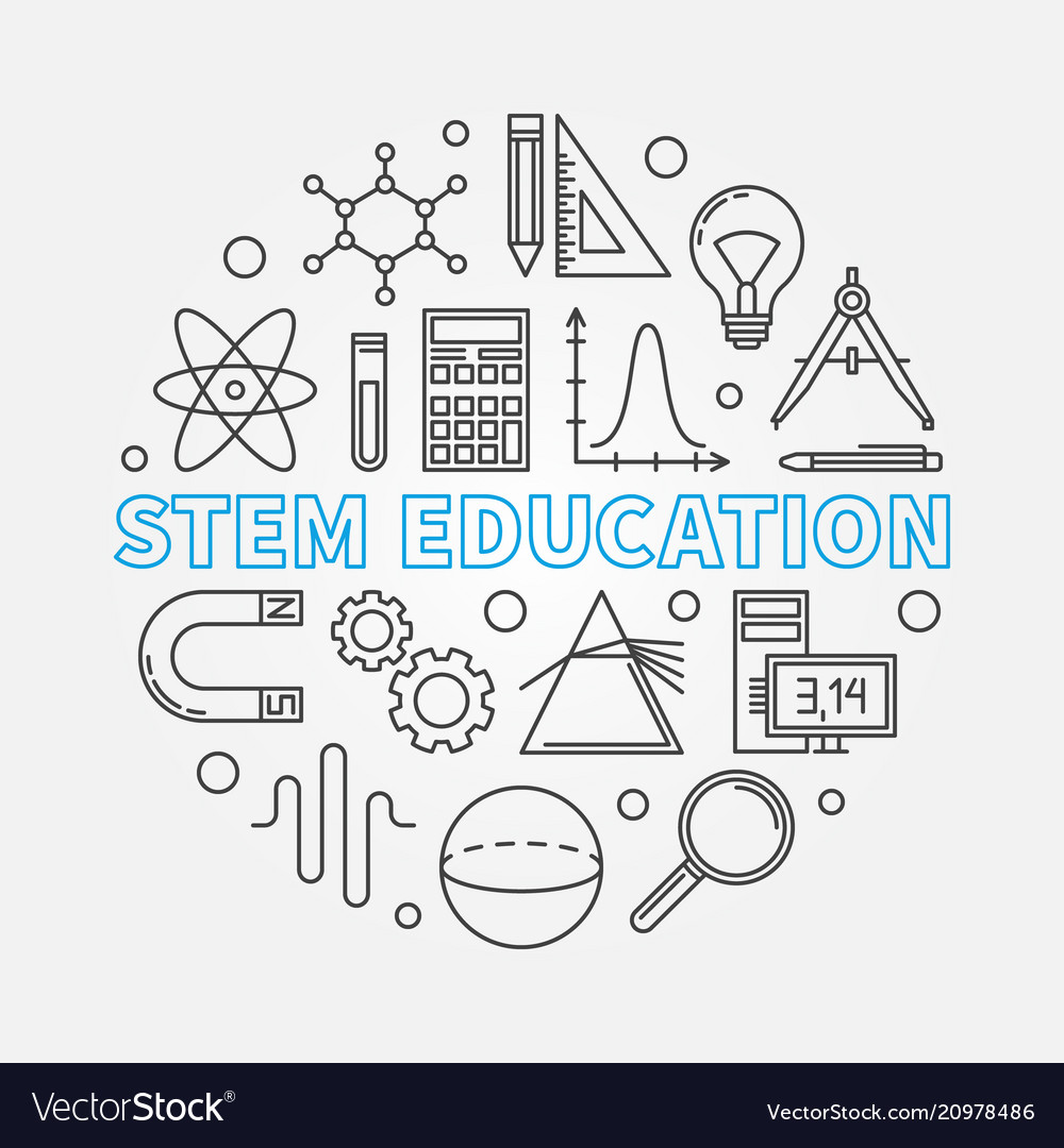 Stem education round in thin