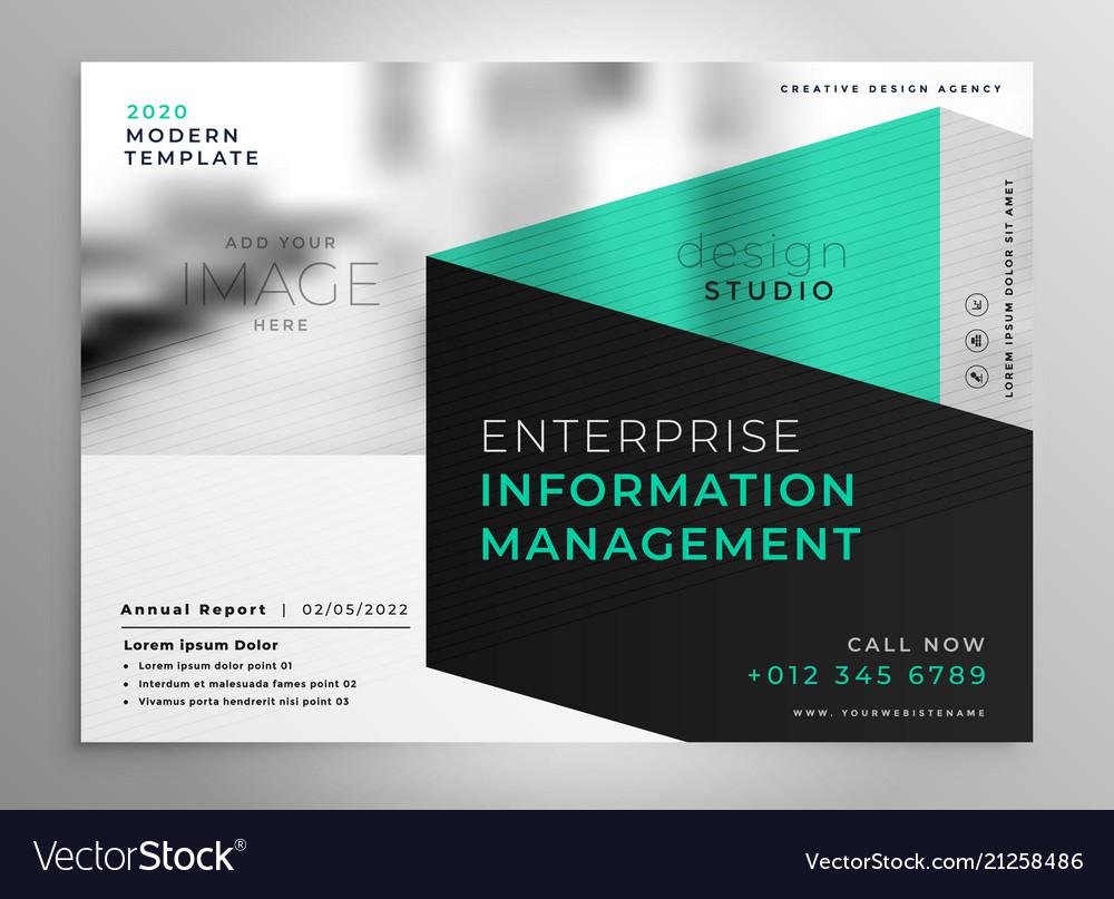 stylish geometric professional brochure template vector image