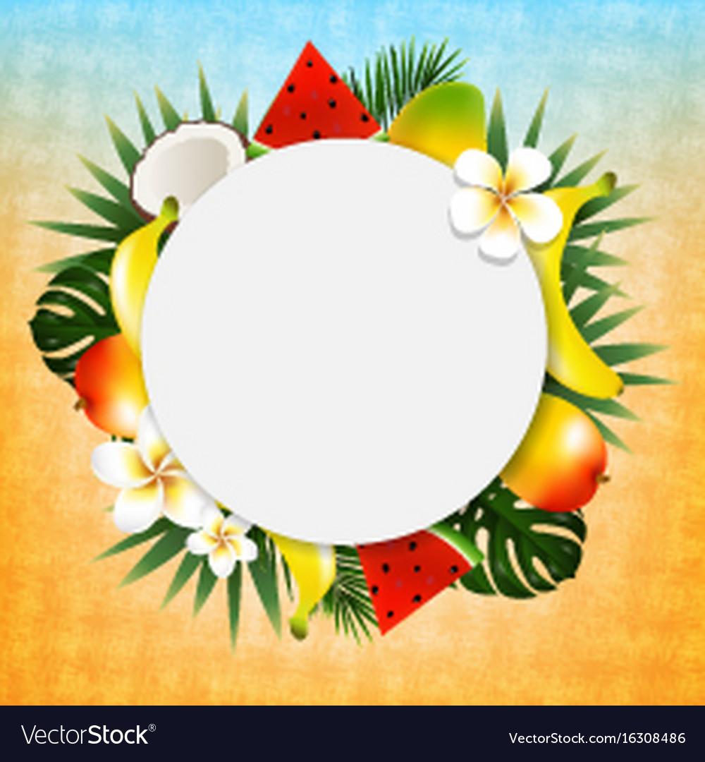 Tropical ball banner